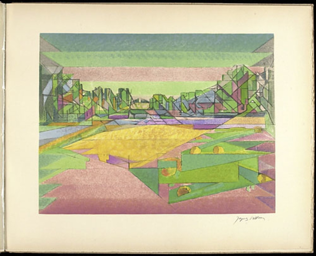 Le Potager aux citrouilles, du livre illustré «Jacques Villon»