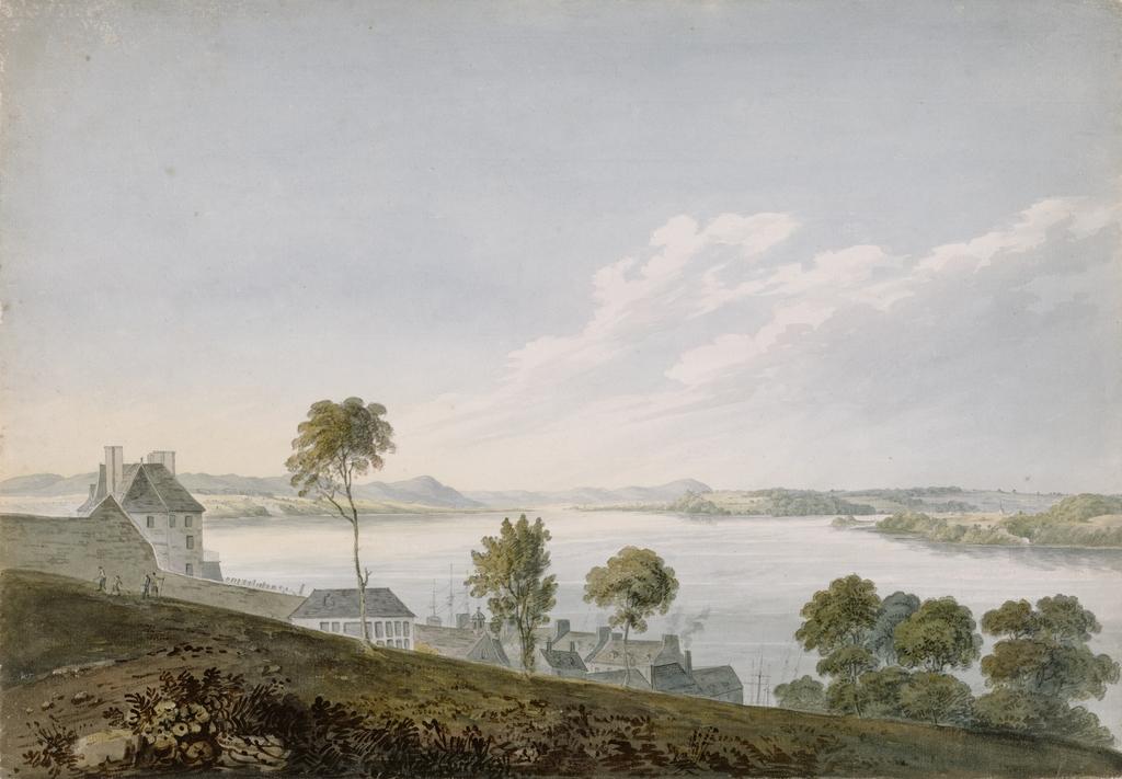 Le Fleuve Saint-Laurent vu de la Haute-Ville de Québec