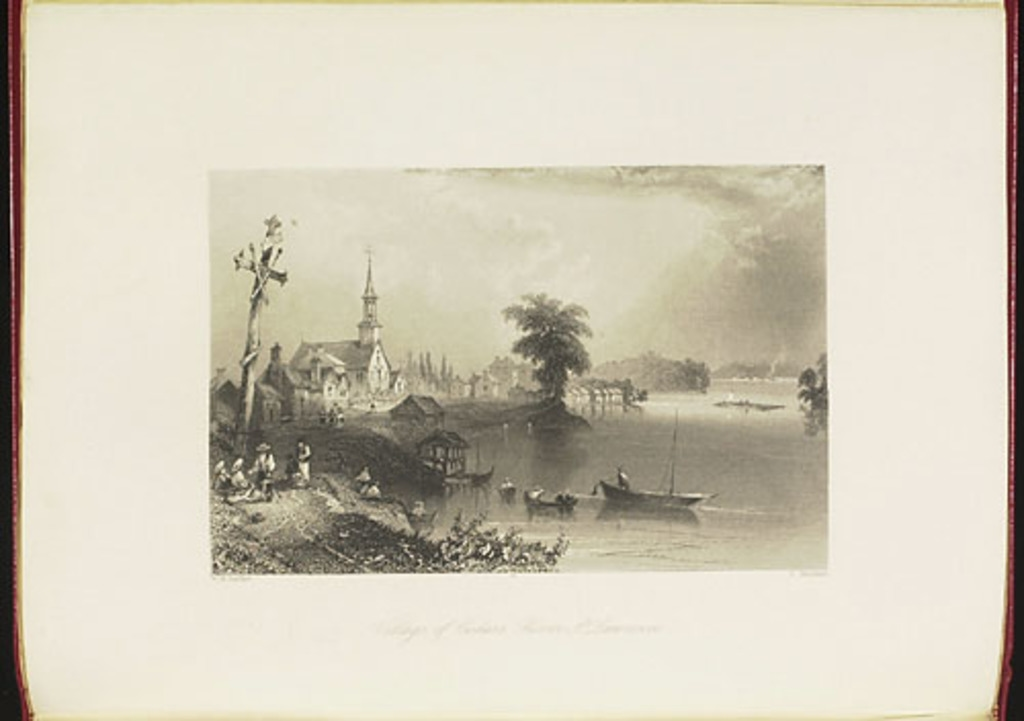 Village des Cèdres, fleuve Saint-Laurent, du Canadian Scenery Illustrated, vol. I