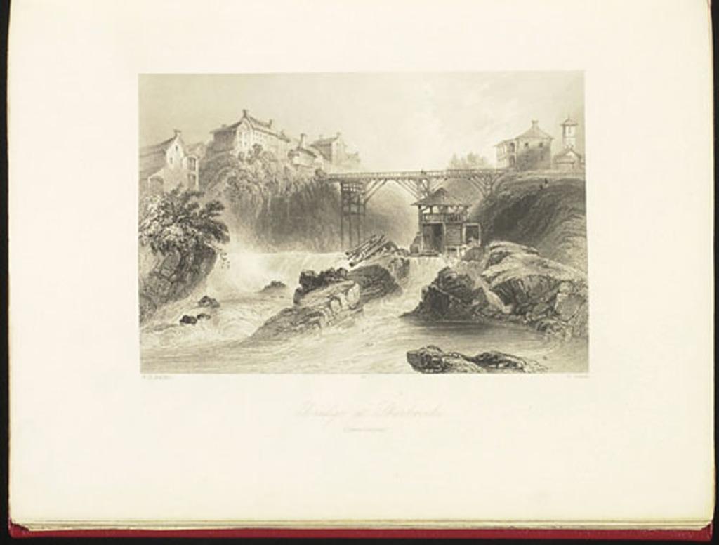 Pont à Sherbrooke, Cantons-de-l'Est, du Canadian Scenery Illustrated, vol. I