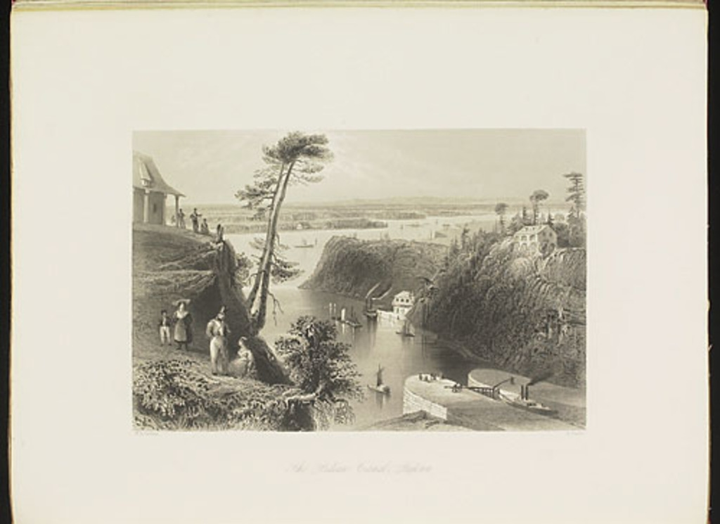 Le Canal Rideau, Bytown, du Canadian Scenery Illustrated, vol. I
