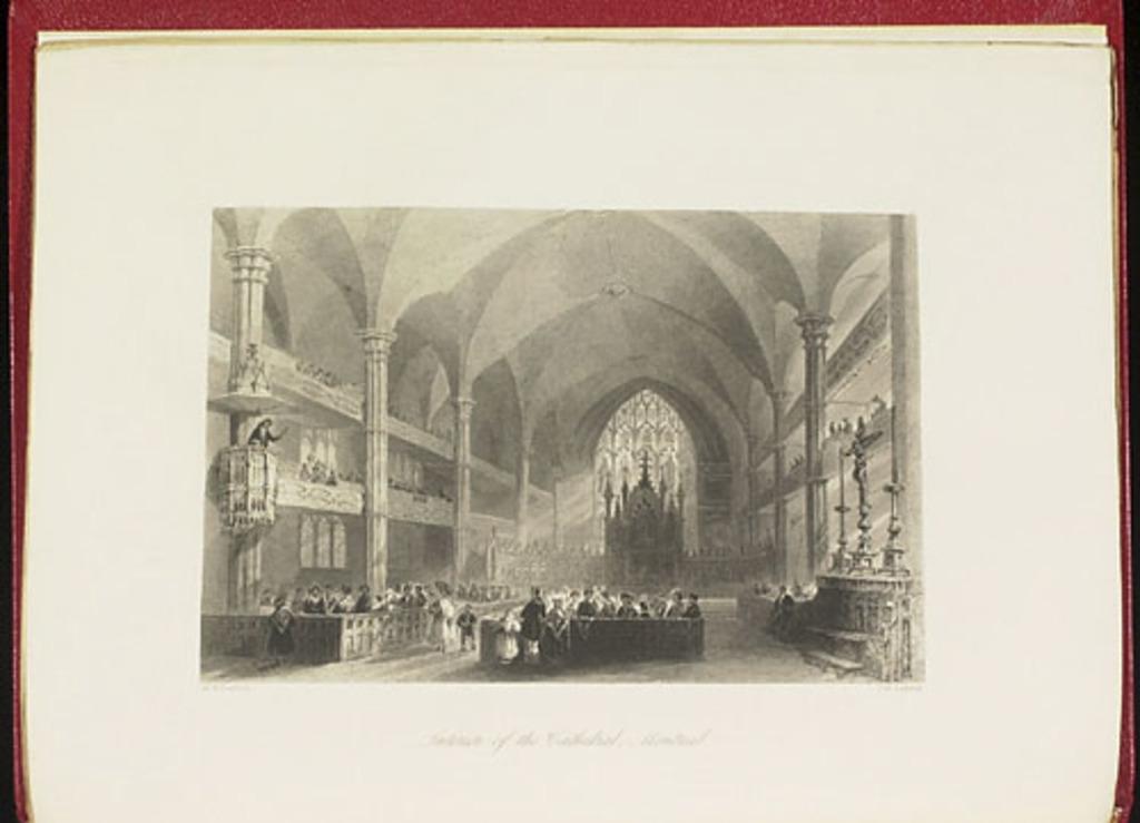 Intérieur de la cathédrale, Montréal, du Canadian Scenery Illustrated, vol. II