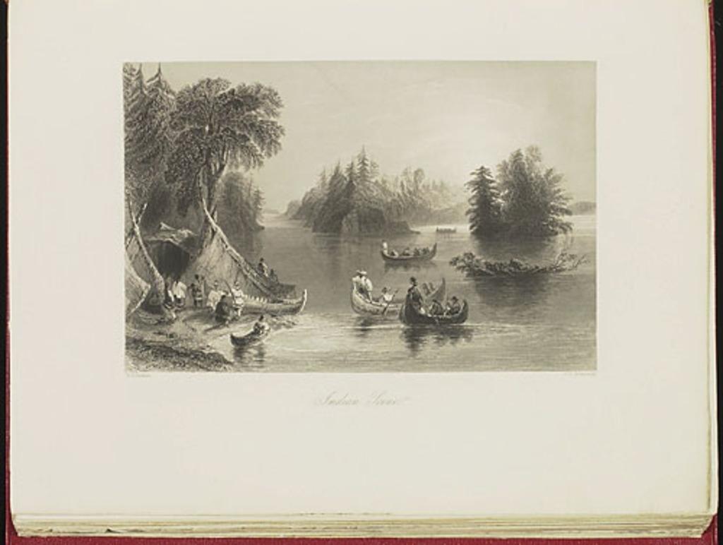 Scène indienne, du Canadian Scenery Illustrated, vol. II