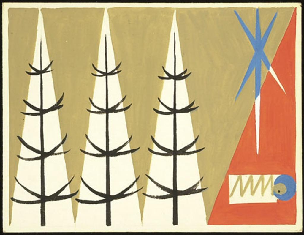 Maquette pour carte de Noël. Enfant Jésus et paysage