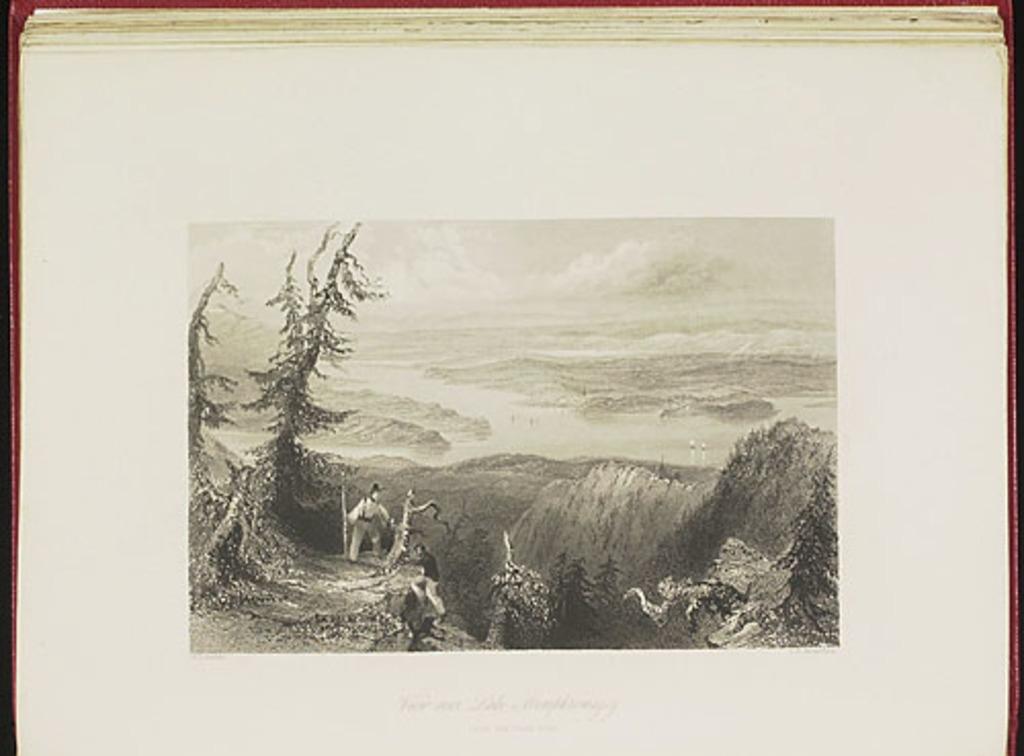 Vue au-dessus du lac Memphrémagog prise du Sugar Loaf, du Canadian Scenery Illustrated, vol. II