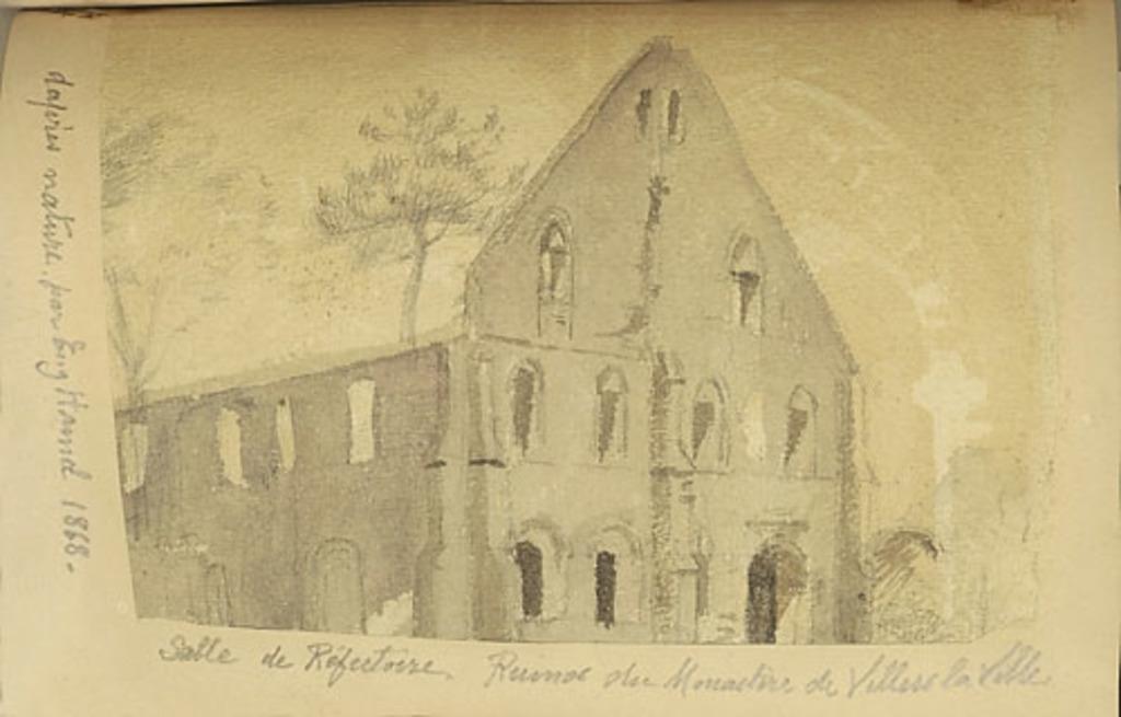 Salle de réfectoire. Ruines du monastère de Villers-la-Ville, en Belgique