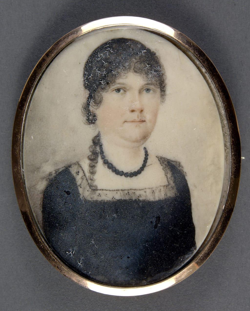 Broche avec portrait de madame Porter