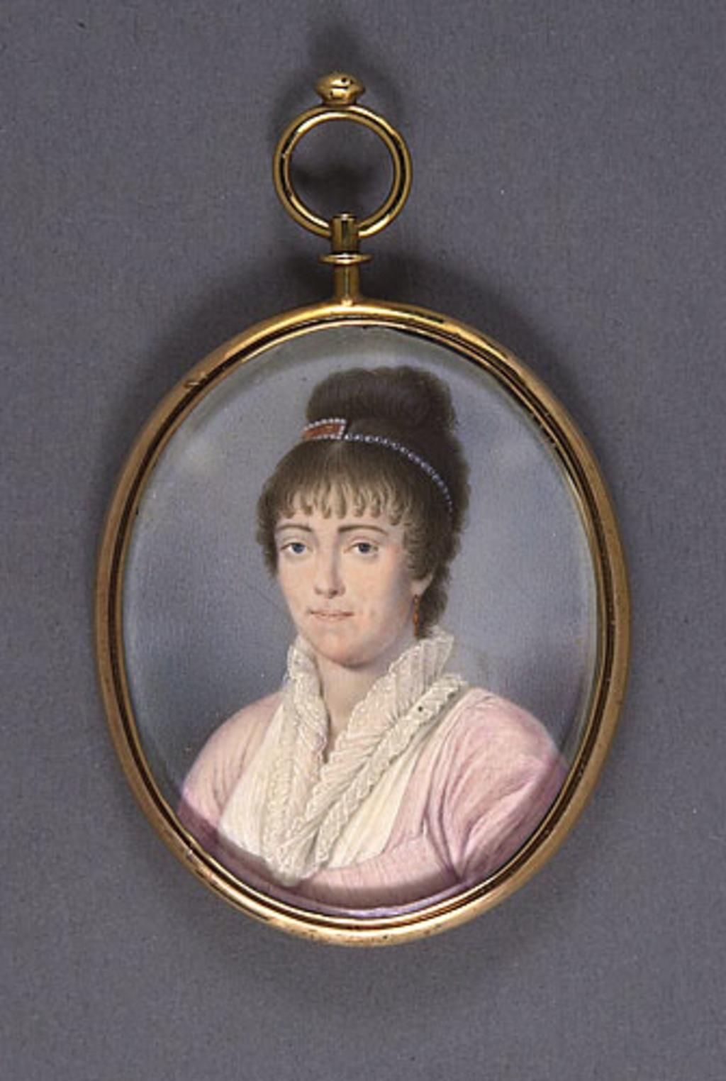 Médaillon avec portrait de madame Pierre-Amable De Bonne, née Louise-Élizabeth Marcoux