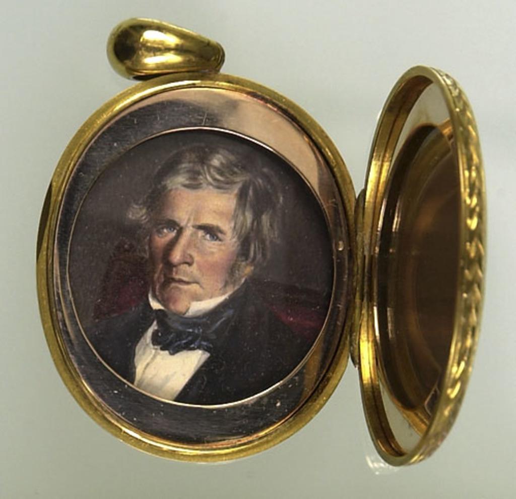 Médaillon avec portrait d'Allan McDonell