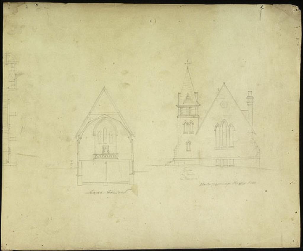 Église St. Andrew, Lévis, vues en plan et en élévation