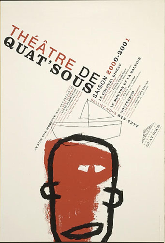 Affiche « Théâtre de Quat'Sous. Saison 2000-2001 »