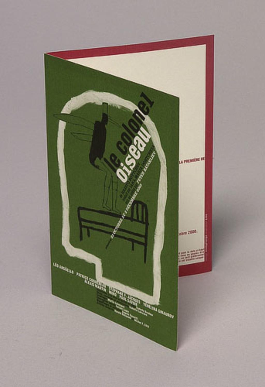 Carton d'invitation pour la première de la pièce « Le Colonel Oiseau »