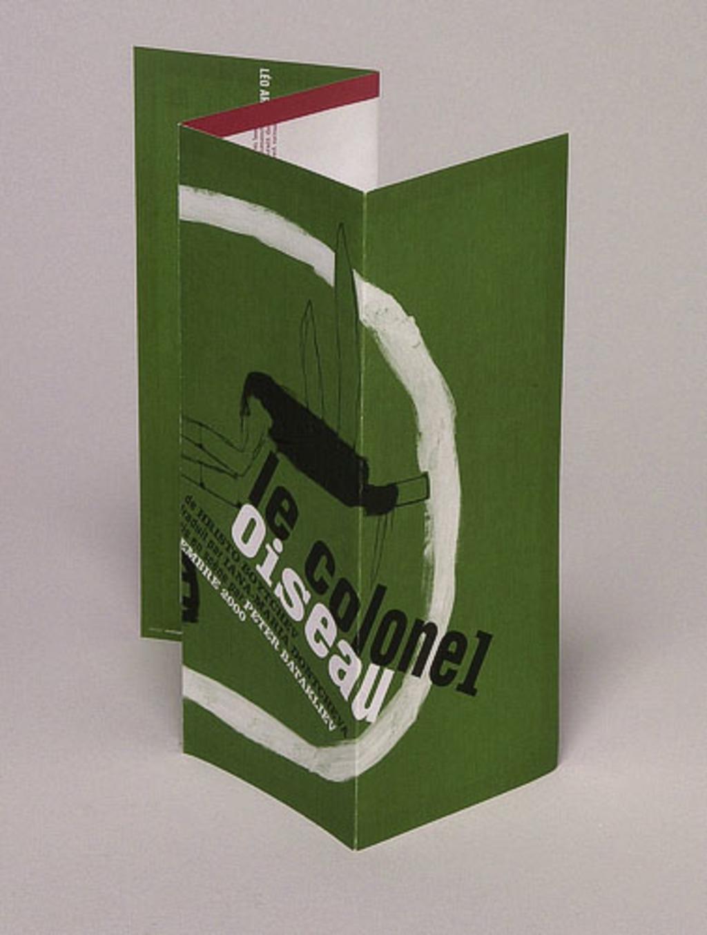 Dépliant-programme pour la pièce « Le Colonel Oiseau »