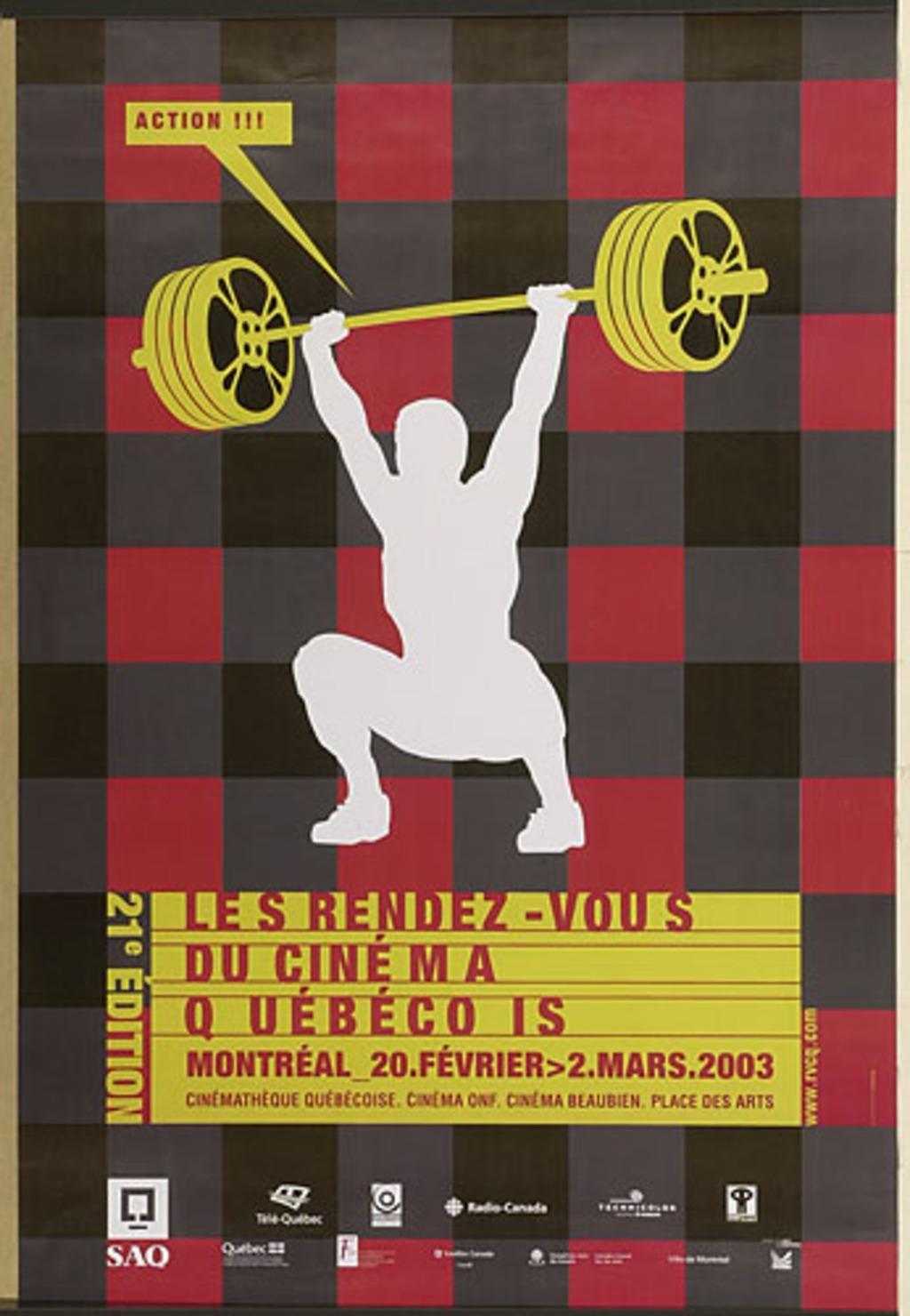 Affiche « Les Rendez-vous du cinéma québécois »