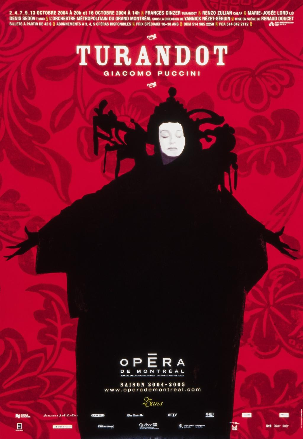 Affiche « Turandot »