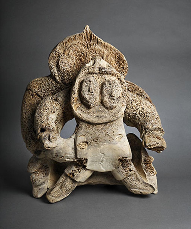 Mère et enfant protégés par le chaman