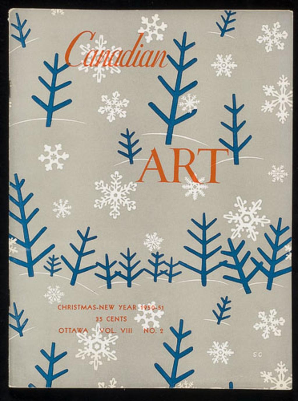 Couverture du Canadian Art, vol. VIII, nº 2