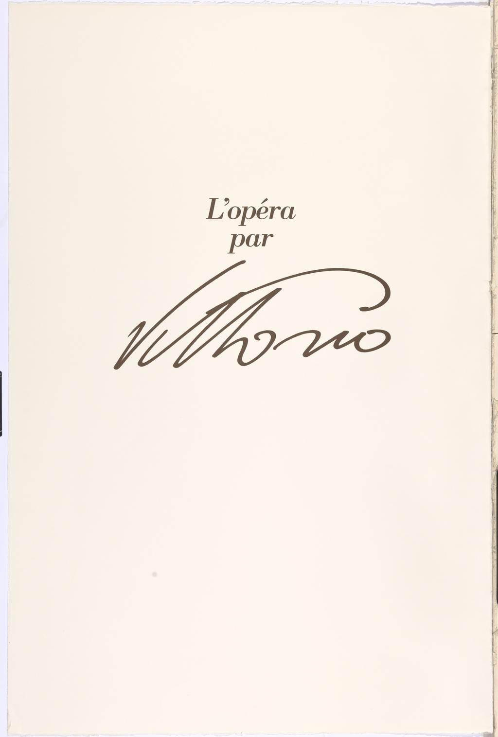 L'Opéra par Vittorio