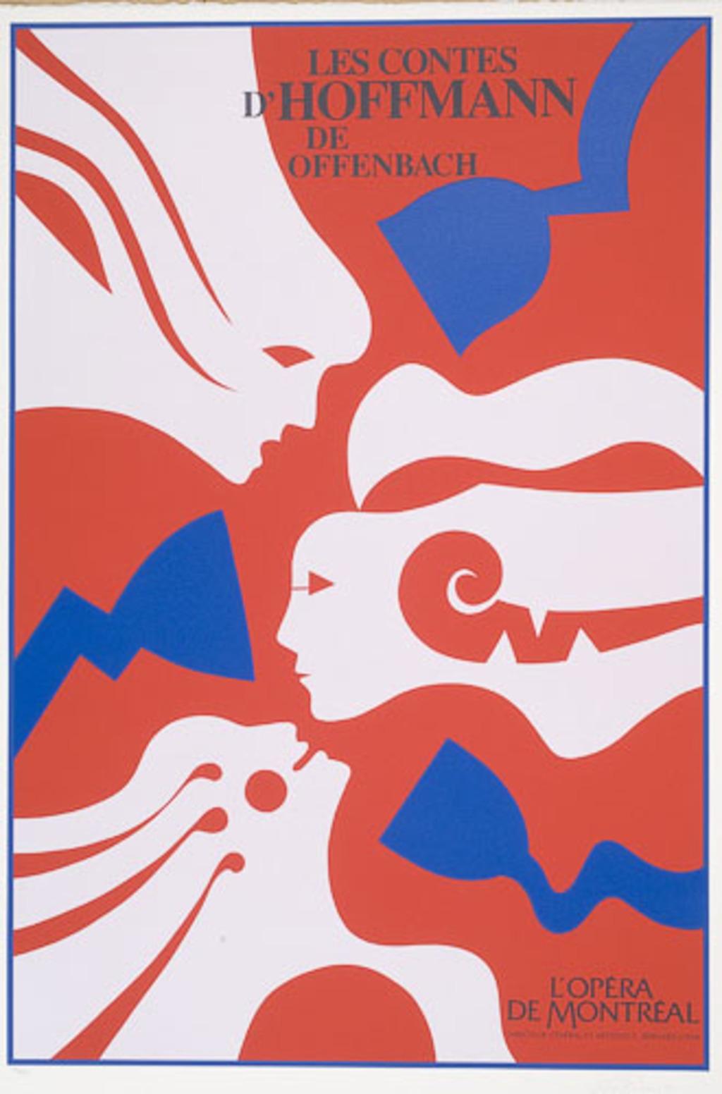 Affiche «Les Contes d'Hoffman de Jacques Offenbach», de l'album L'Opéra par Vittorio
