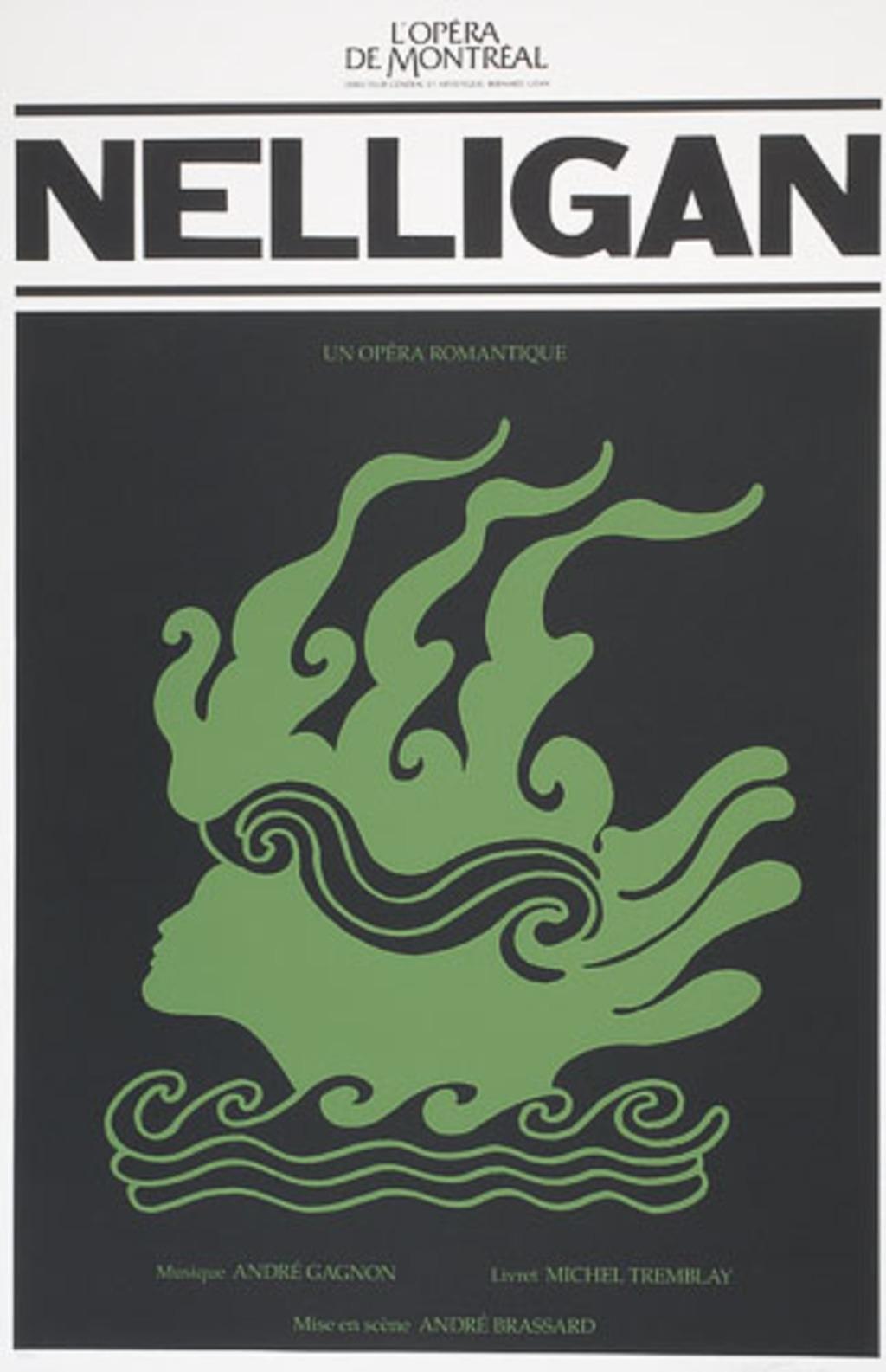 Affiche «Nelligan d'André Gagnon et de Michel Tremblay», de l'album L'Opéra Vittorio