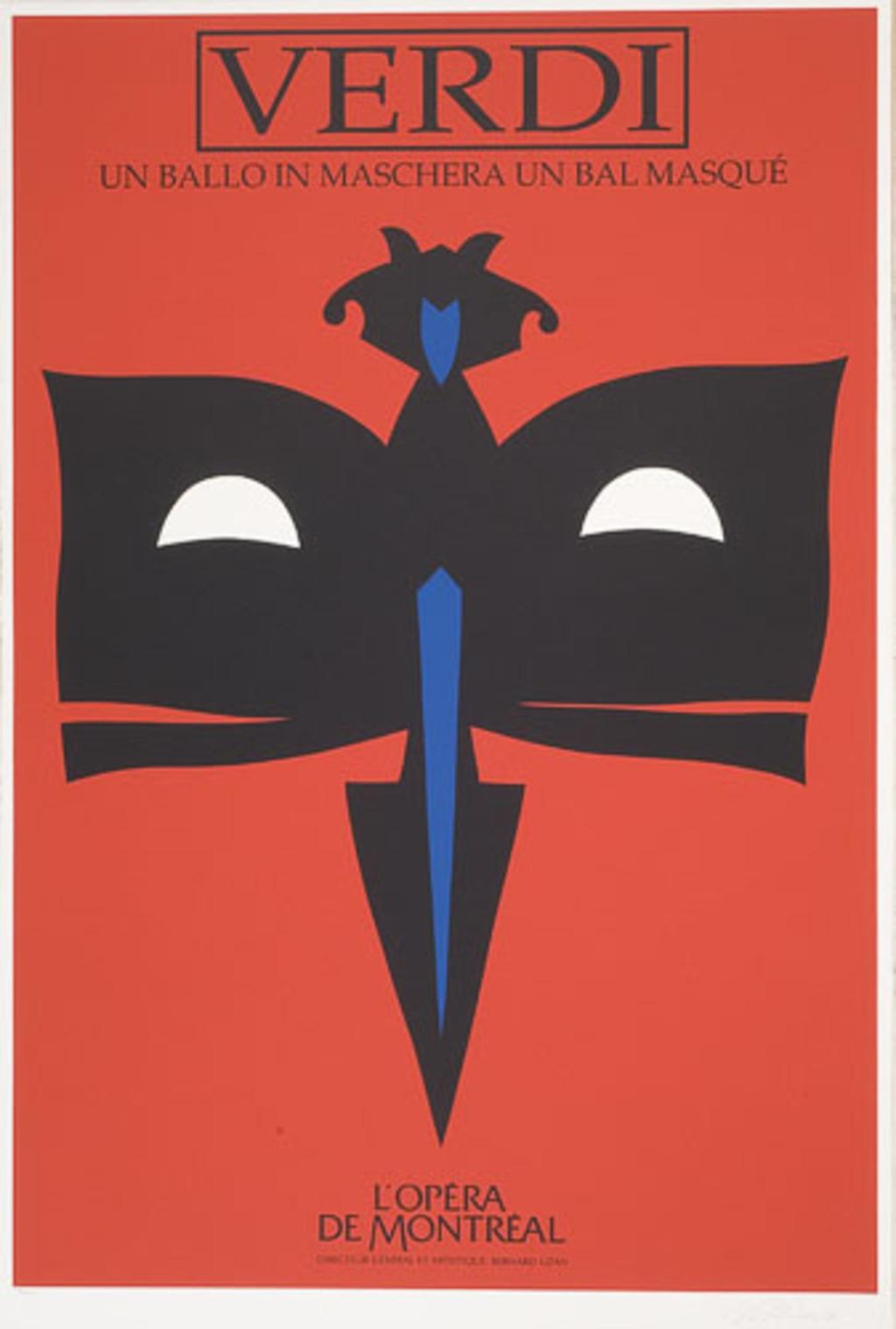Affiche «Un bal masqué de Giuseppe Verdi», de l'album L'Opéra par Vittorio