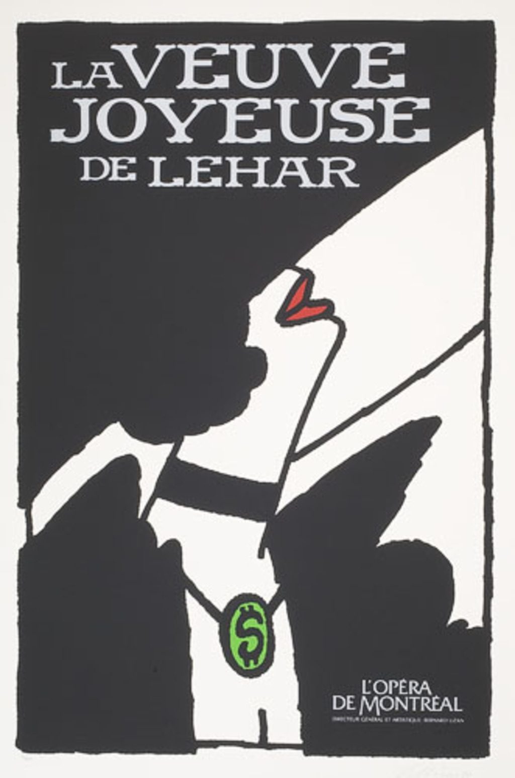 Affiche «La Veuve joyeuse de Franz Lehar», de l'album L'Opéra par Vittorio