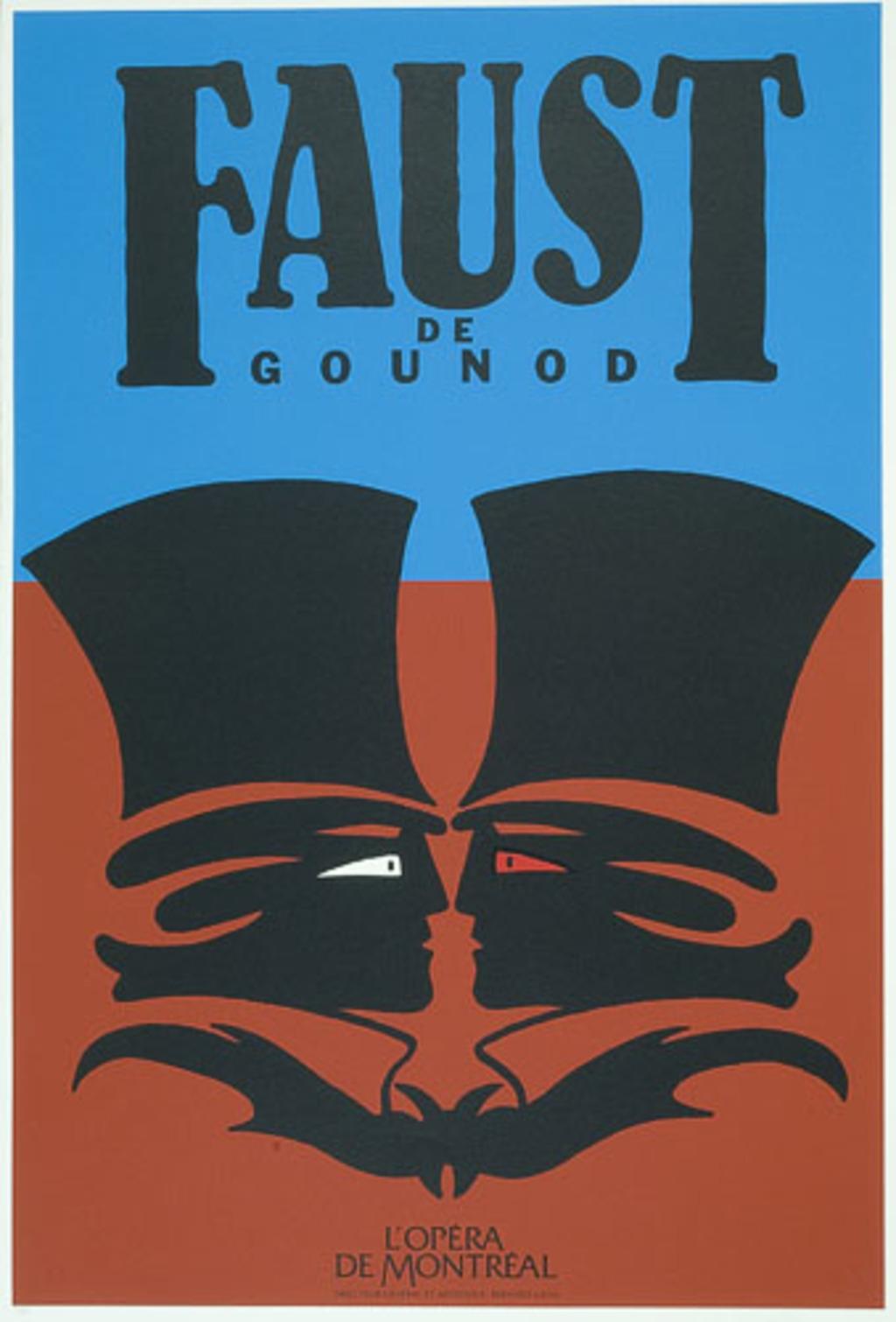 Affiche «Faust de Charles Gounod», de l'album L'Opéra par Vittorio