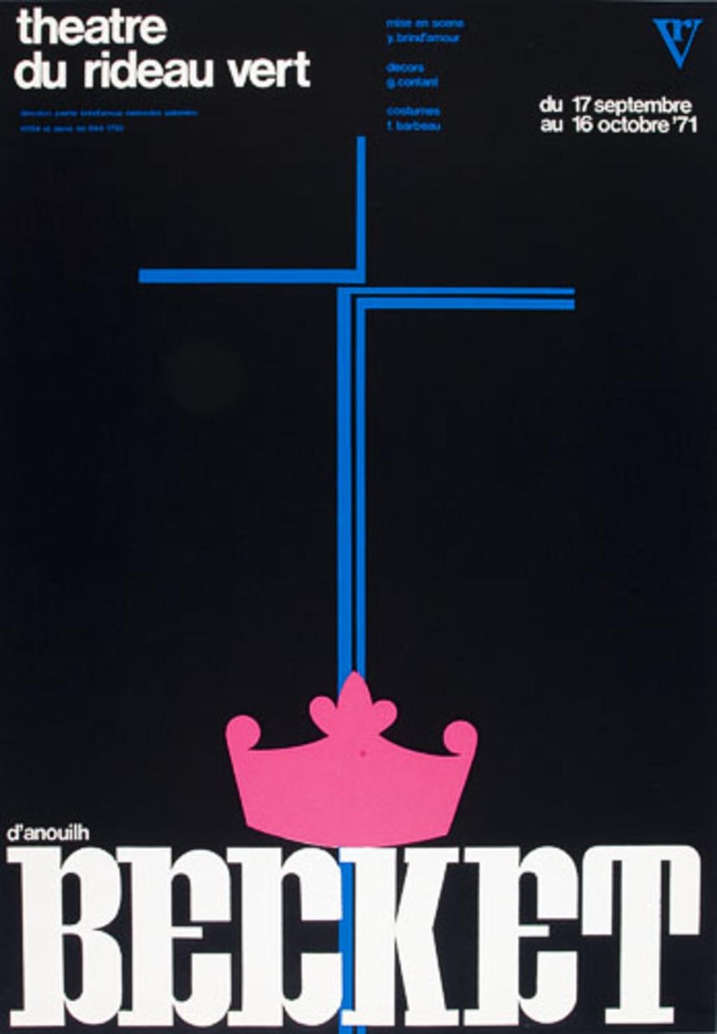 Affiche « Becket [ou L'Honneur de Dieu] »