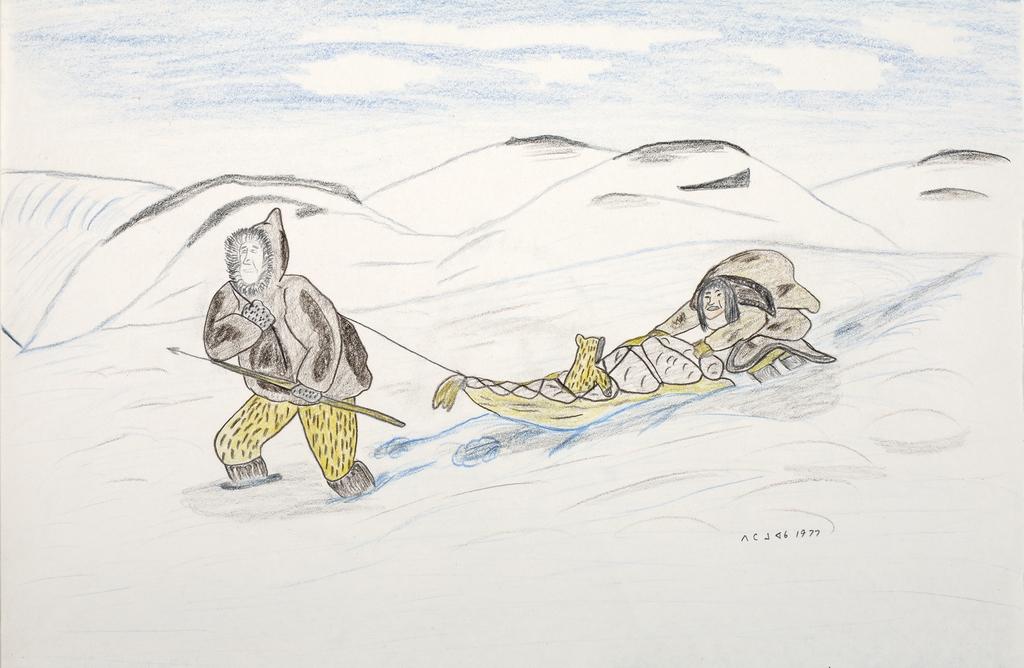 Famille inuite en déplacement