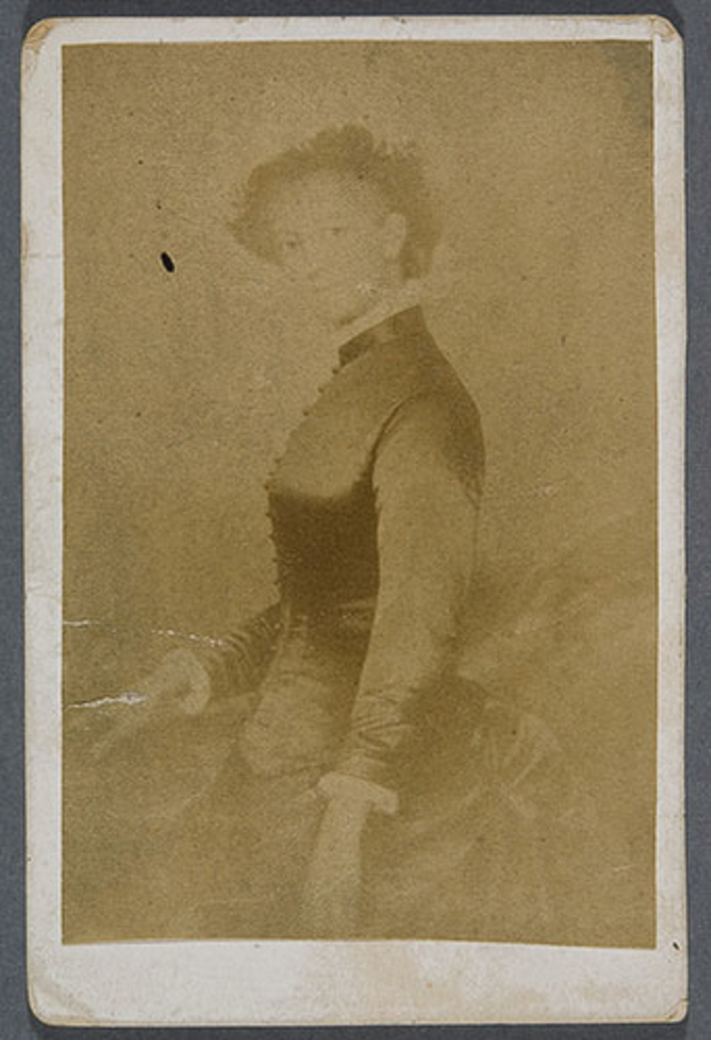 Madame Eugène Hamel, née Ernesta de Cadilhac. Photographie d'un tableau d'Eugène Hamel