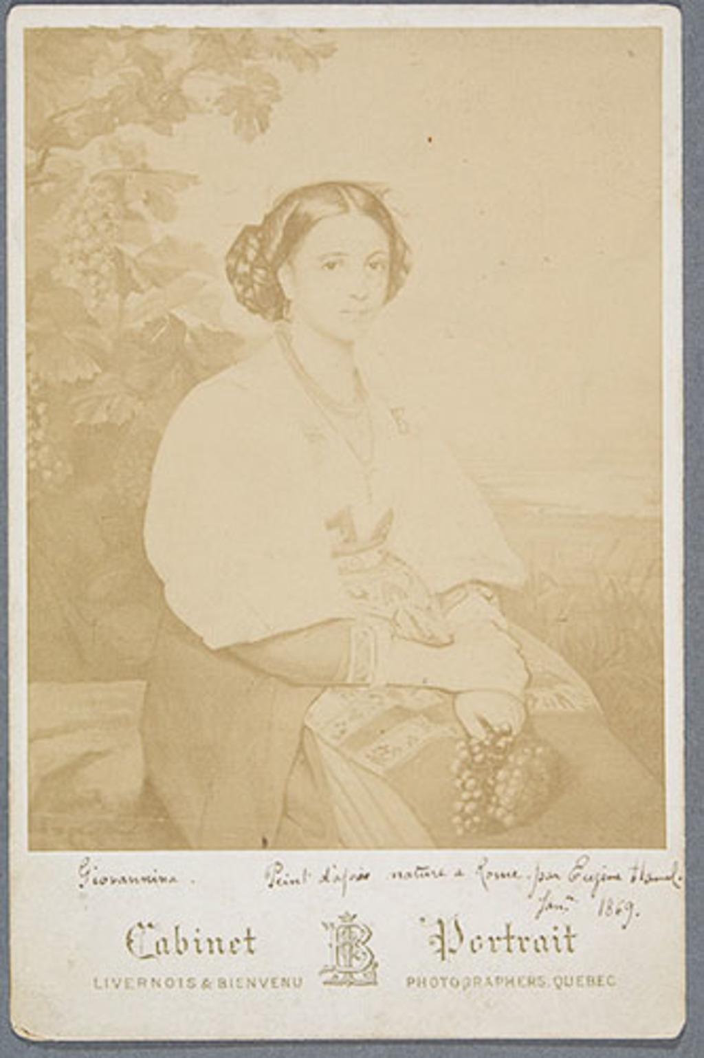Giovannina Ciociarde. Photographie d'un tableau d'Eugène Hamel