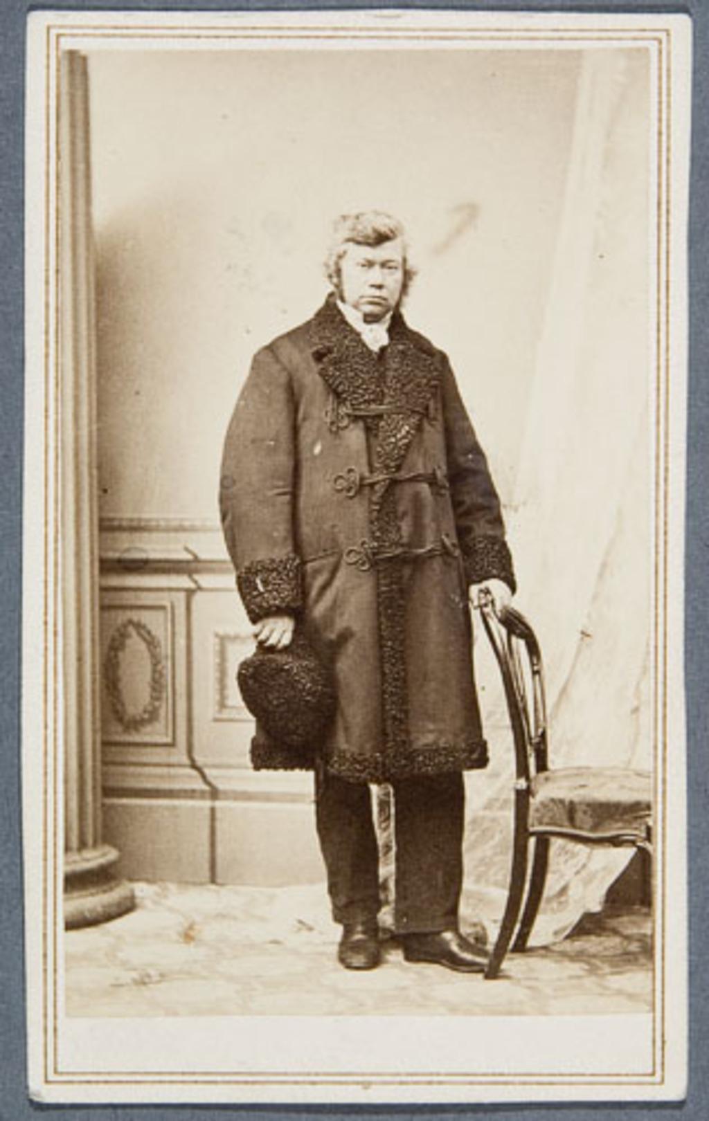 Abraham Hamel en costume d'hiver, de l'album Eugène-Hamel