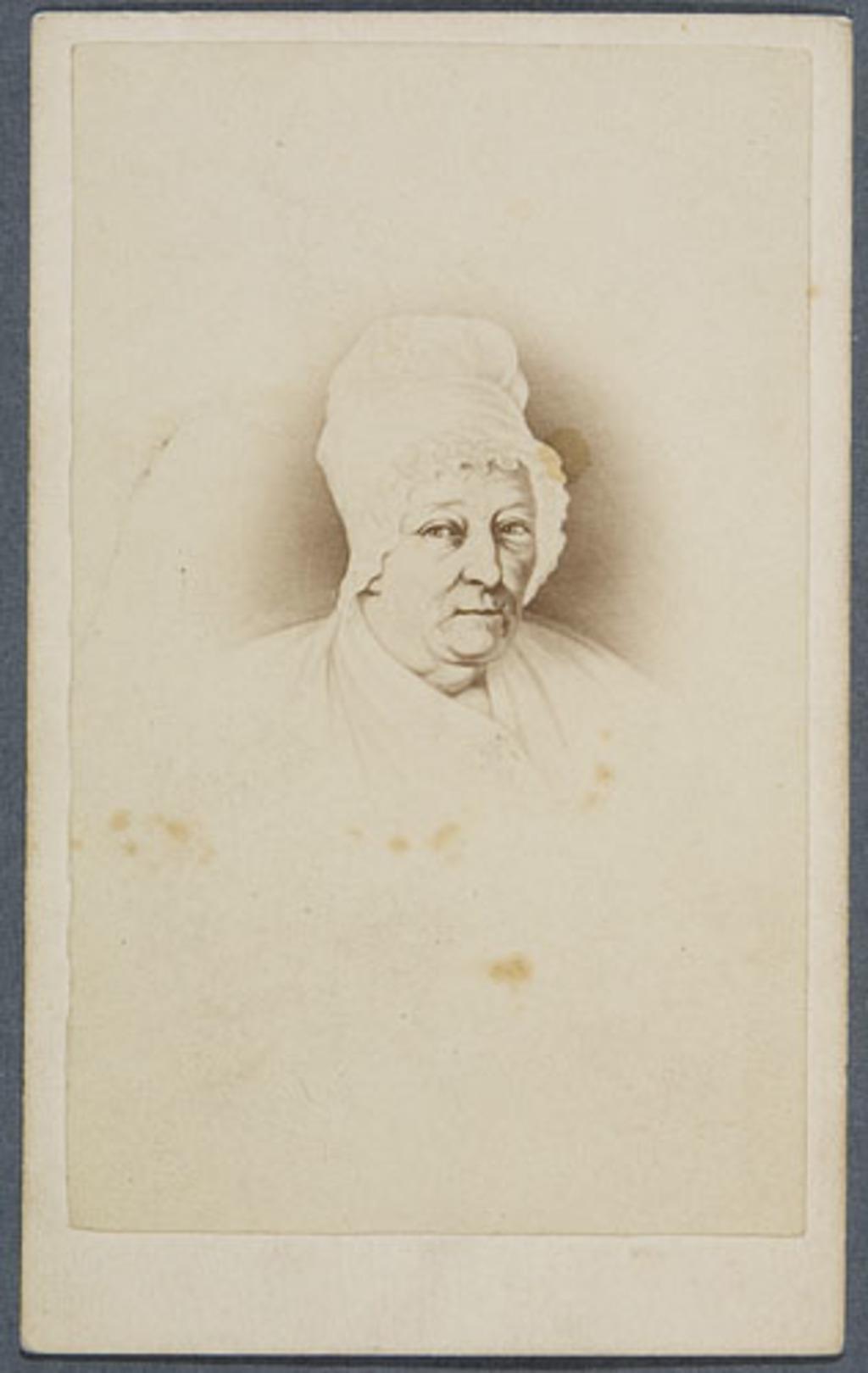 Madame René-François Hamel, née Louise Sédillot. Photographie d'un tableau de Théophile Hamel, de l'album Eugène-Hamel