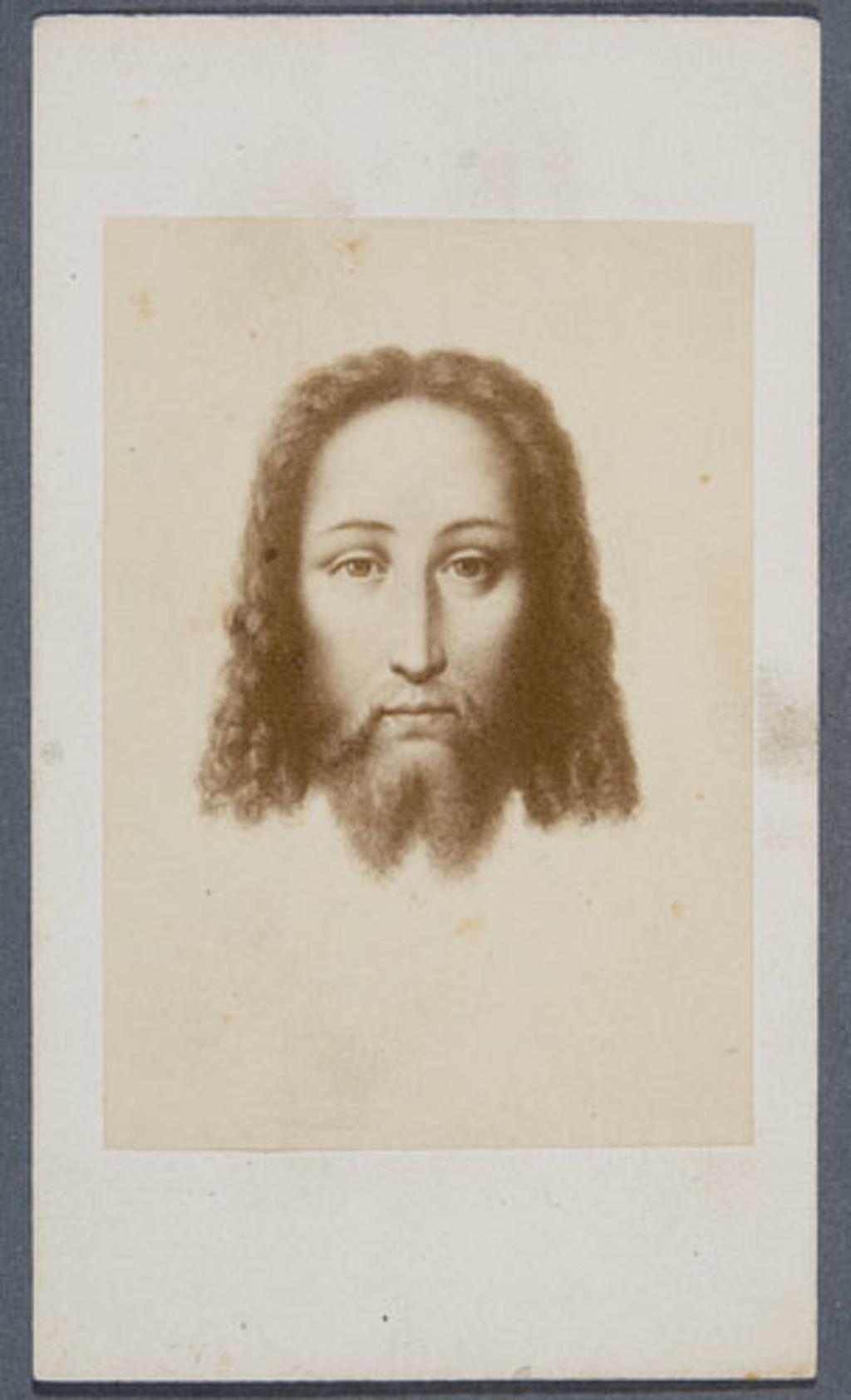 La Sainte Face. Photographie d'une image pieuse, de l'album Eugène-Hamel