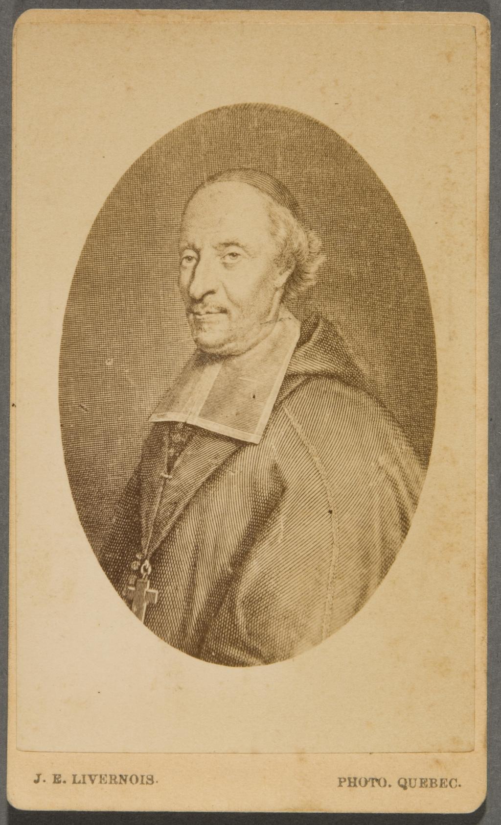Monseigneur François de Montmorency Laval. Photographie d'une gravure