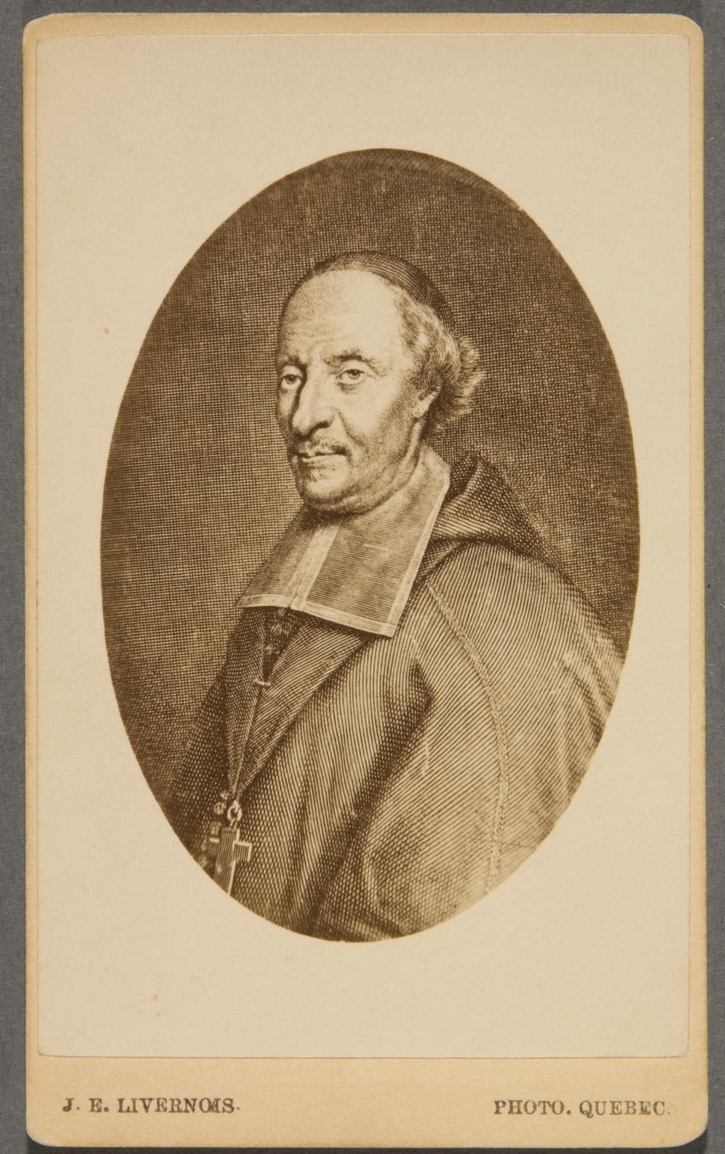 Monseigneur François de Laval. Photographie d'une gravure