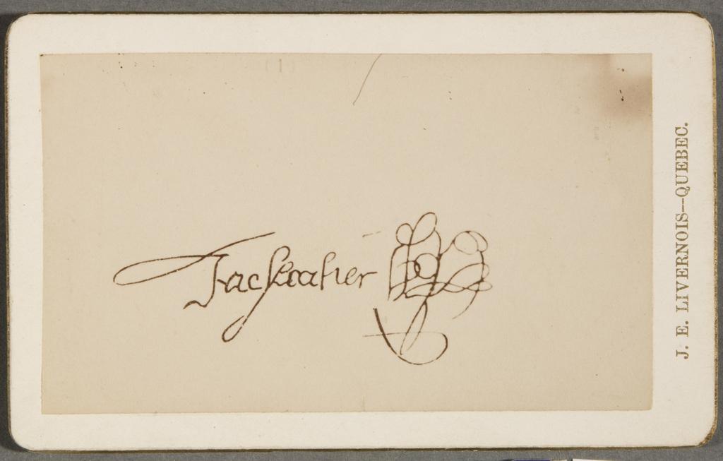 La Signature de Jacques Cartier