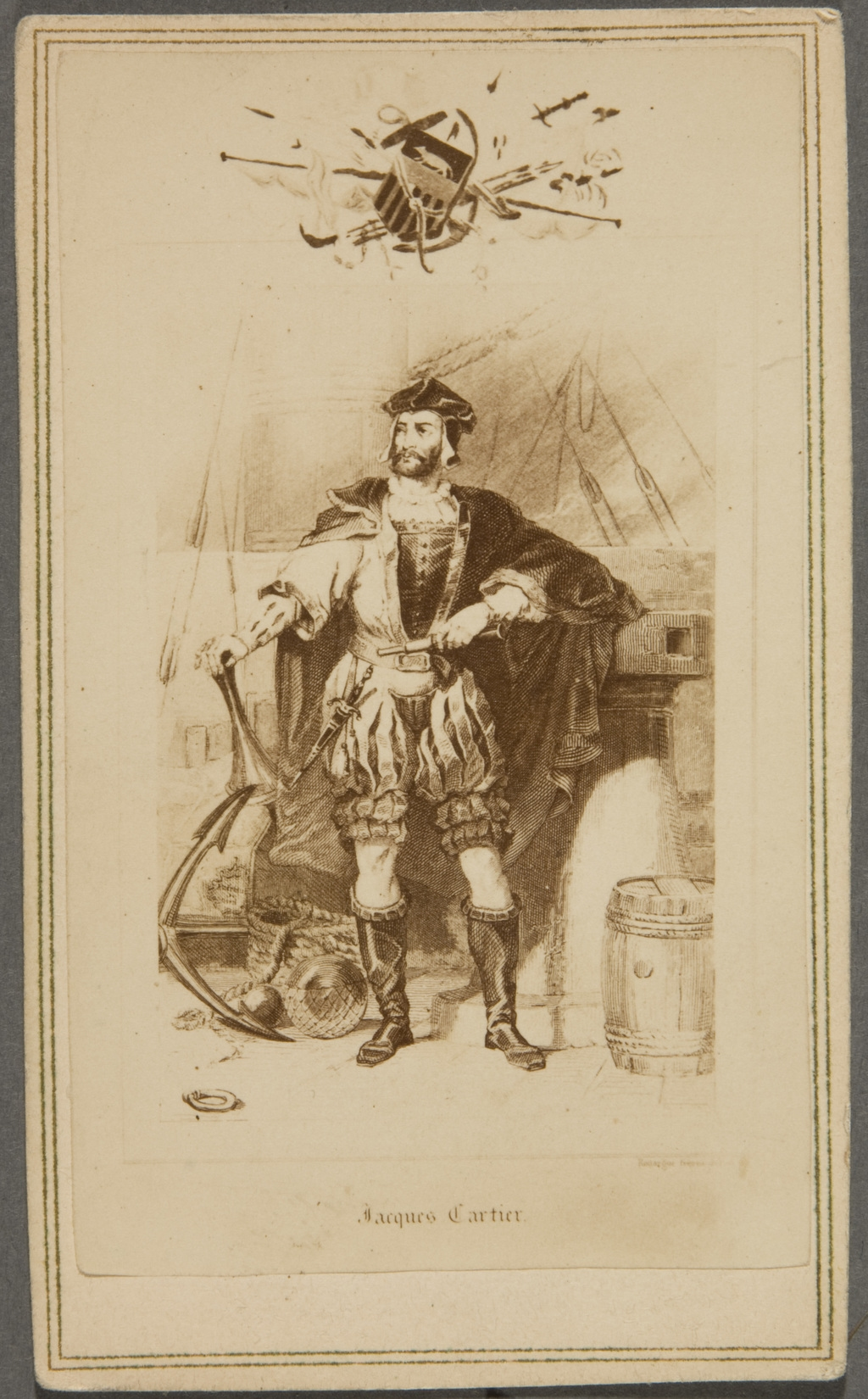 Jacques Cartier. Photographie d'une gravure de Mayer & Co.