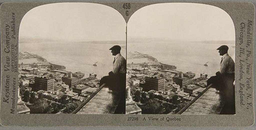La Basse-Ville et le port de Québec vus du Château Frontenac