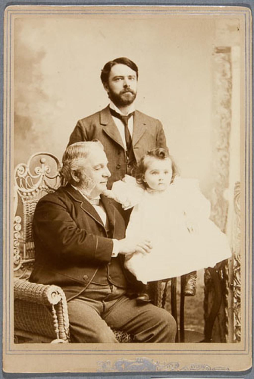 Cyrille Fraser Delâge, son père et son enfant