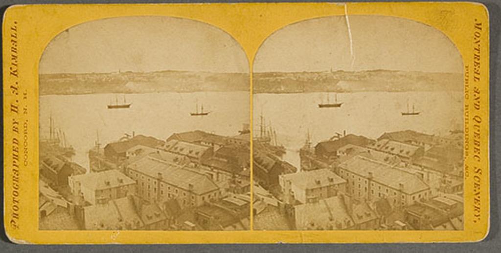 La Basse-Ville et le port de Québec, de la série « Montreal and Quebec Scenery »