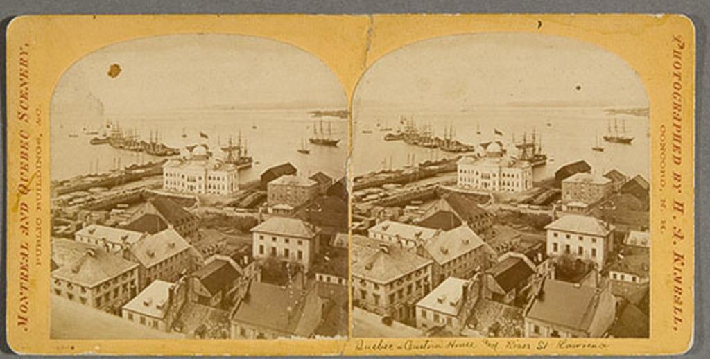 Le Port de Québec et l'édifice de la douane vus de l'Université Laval, de la série « Montreal and Quebec Scenery »