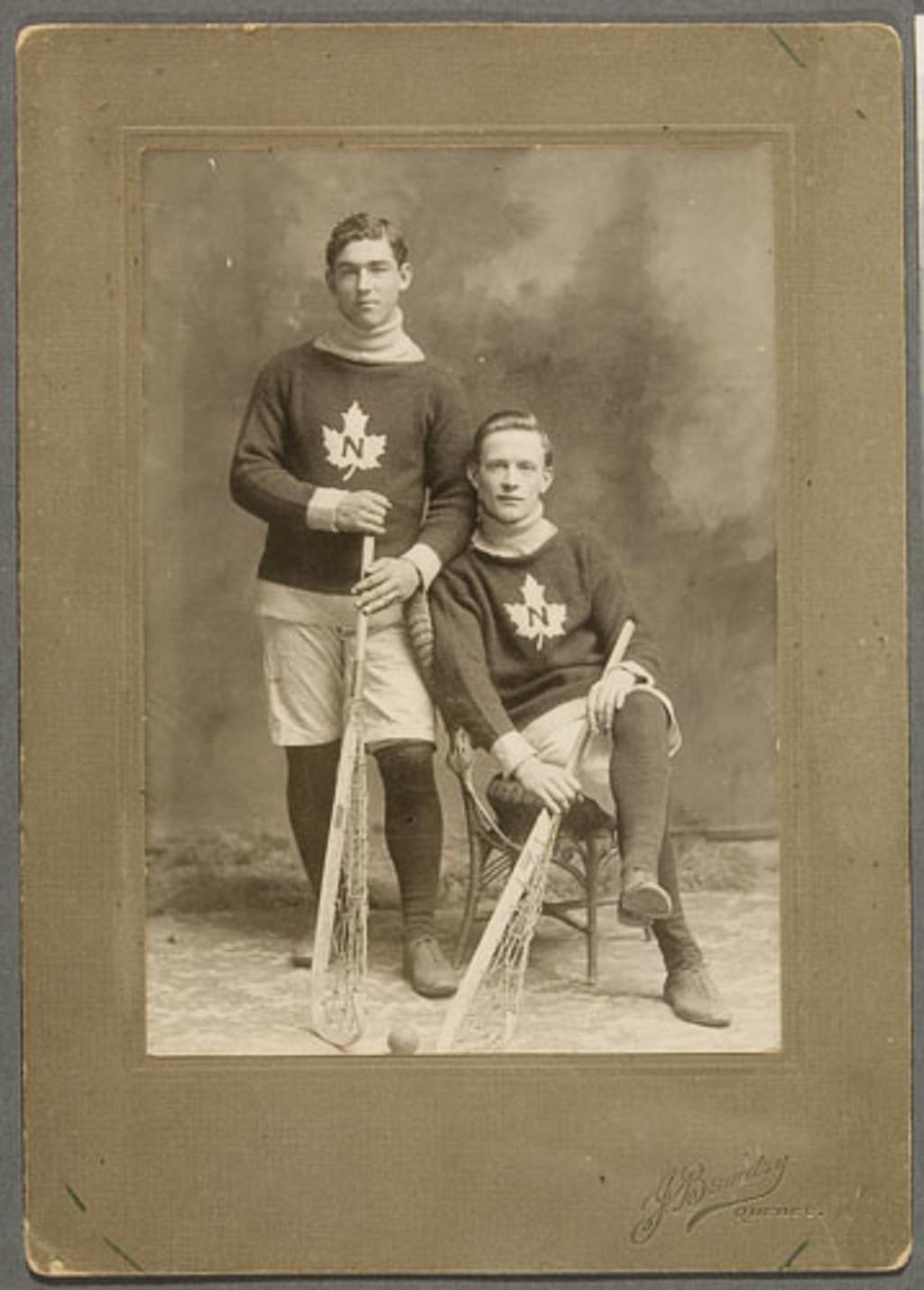 Joueurs de crosse du club « National » de Québec