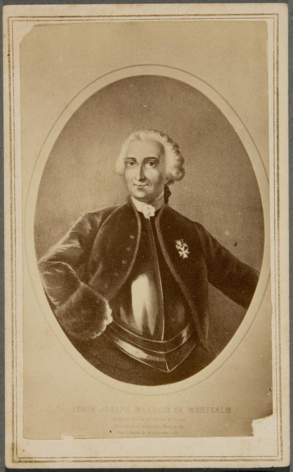 Louis-Joseph, marquis de Montcalm. Photographie d'une gravure