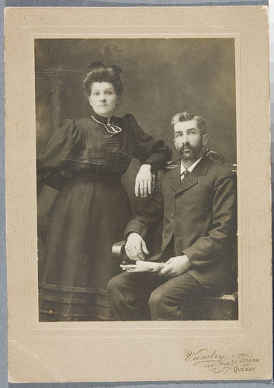 Ernest Beaudet et son épouse, née Ernestine Vidal