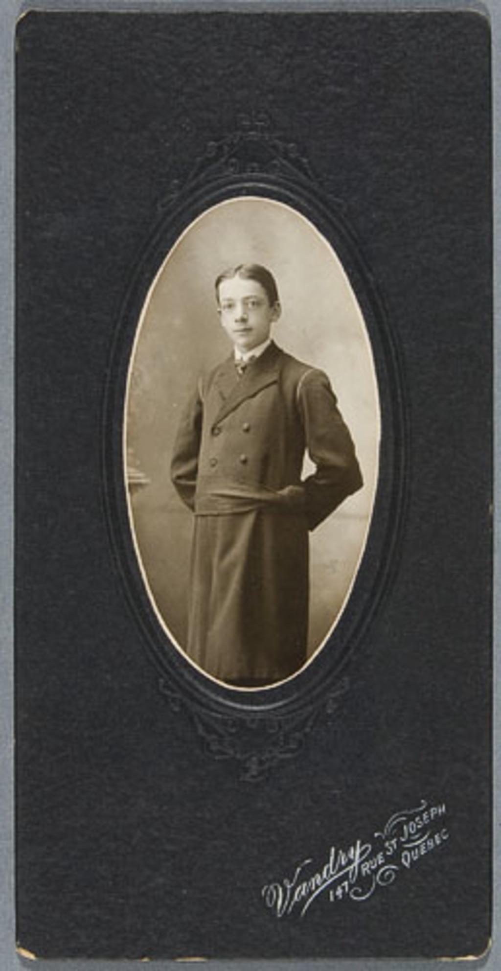 Portrait de séminariste