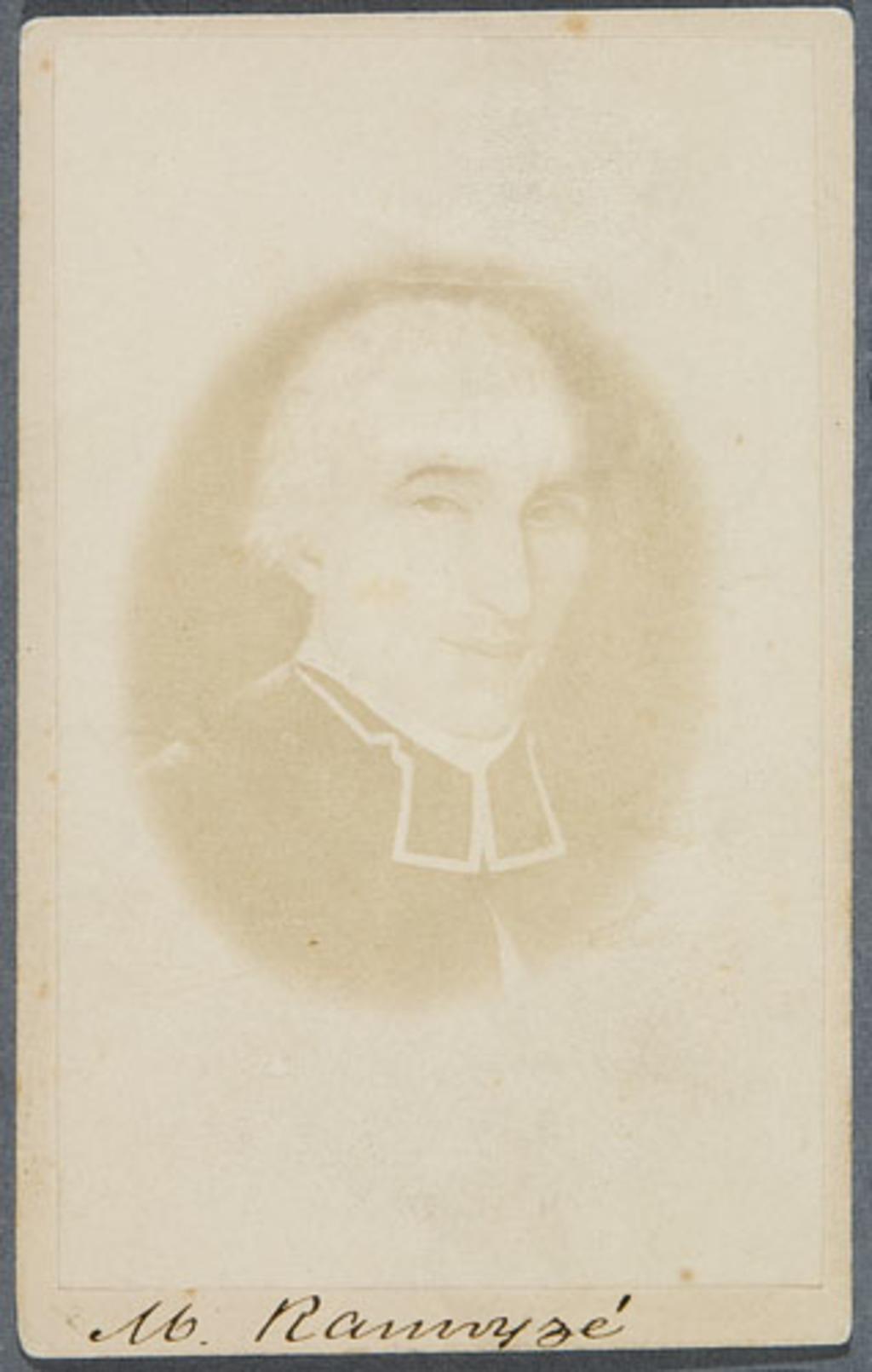 L'Abbé François-Ignace Ranvoyzé. Photographie d'un tableau de Louis Dulongpré, de l'album des familles De Blois, Dugal et Langelier
