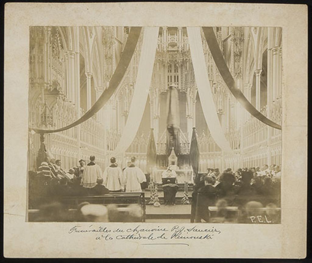 Les Funérailles de l'abbé Pierre-Joseph Saucier à la cathédrale de Rimouski
