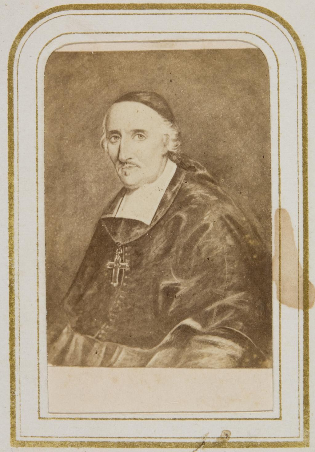 Monseigneur François de Montmorency Laval. Photographie d'un tableau, de l'album Évêques, gouverneurs et hommes politiques du Québec