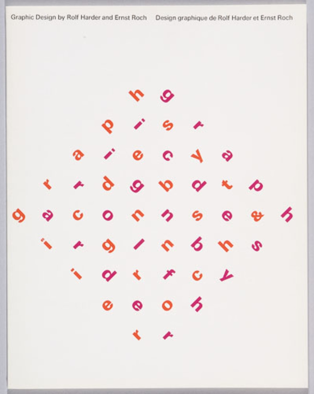 Catalogue pour l'exposition « Design graphique de Rolf Harder et Ernst Roch »